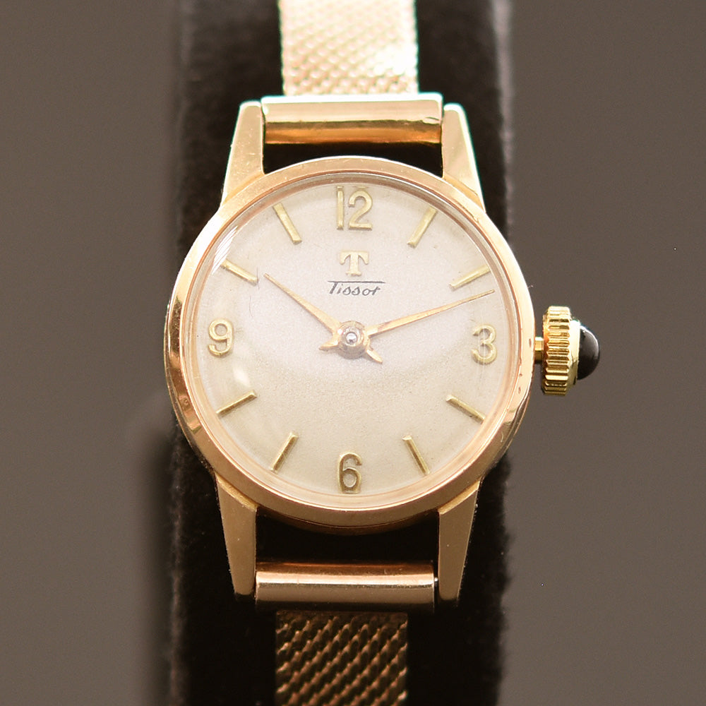 1953 TISSOT Ladies 18K Solid Gold Vintage Cocktail Watch