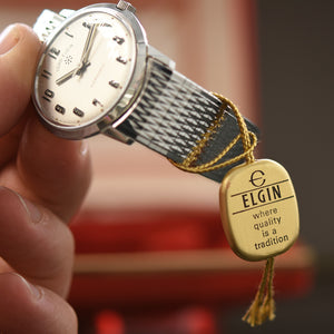 60s ELGIN Micromatic Swiss Gents Vintage Watch w/Box