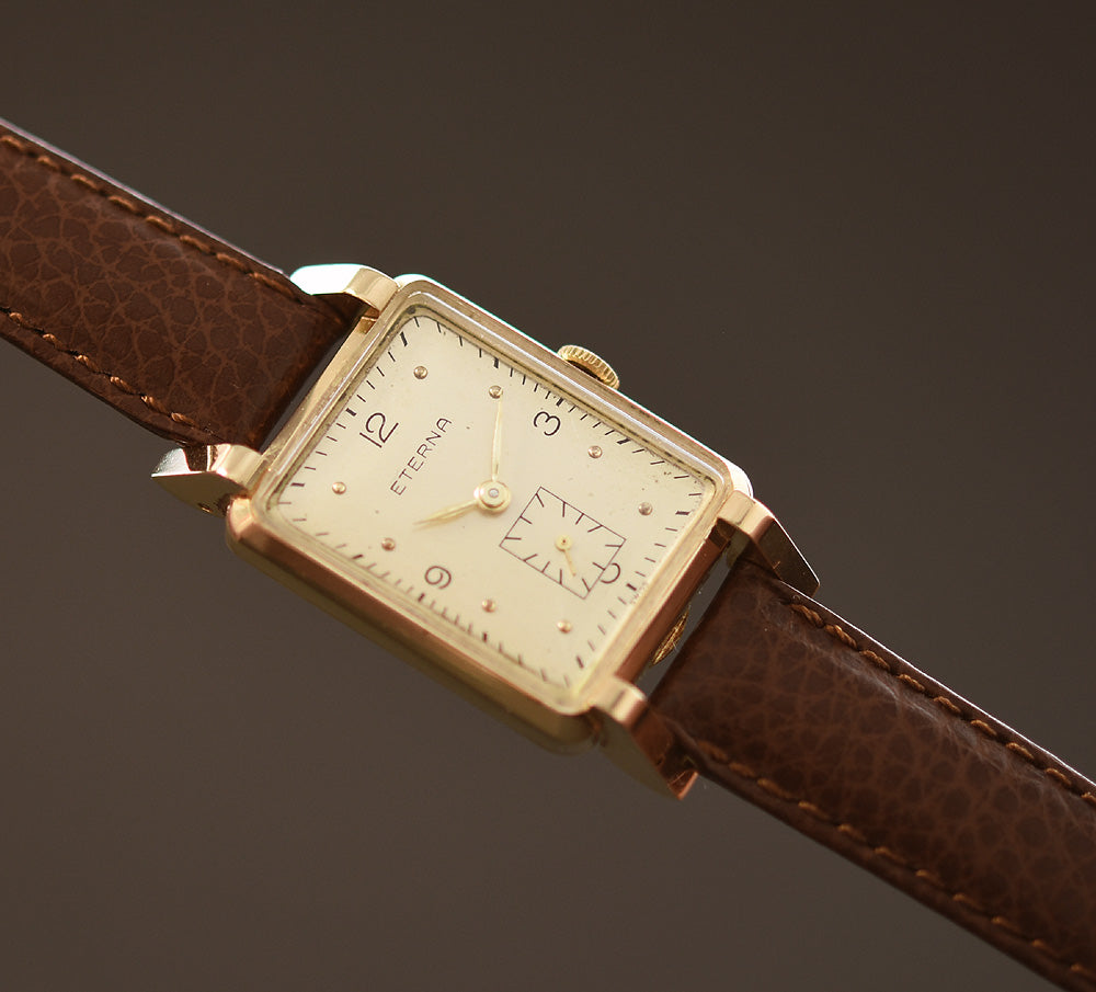 1945 ETERNA Swiss 14K Gold Gents Dress Watch