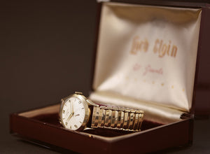 1954 LORD ELGIN USA Vintage Gents Dress Watch w/Box