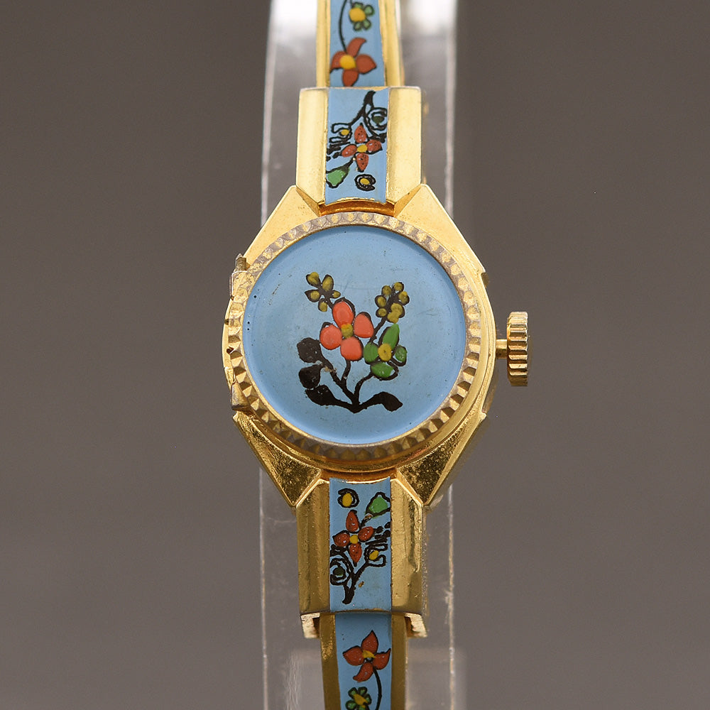 60s CARINA Swiss Ladies Peek-A-Boo Bracelet Watch