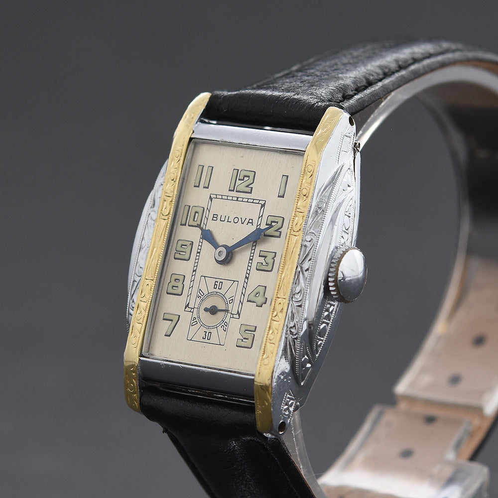 1930 BULOVA 'Gladiator' Gents Swiss Art Deco Watch