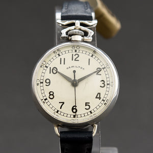 1950 HAMILTON USA 'Chatelaine' Ladies Nurse Silver Watch
