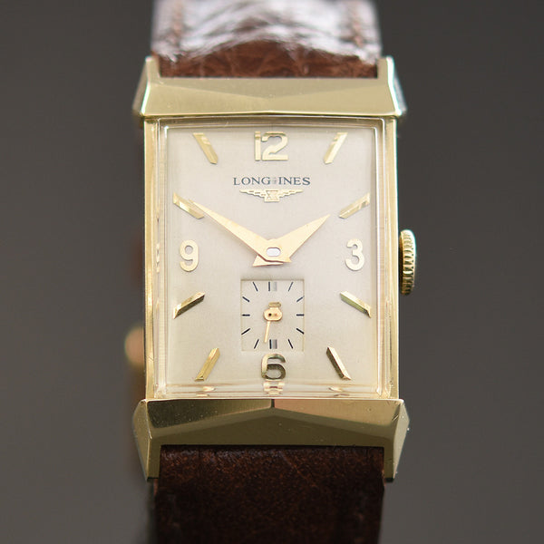 1953 LONGINES 'Pres. Fillmore' Gents 14K Solid Yellow Gold Vintage Watch
