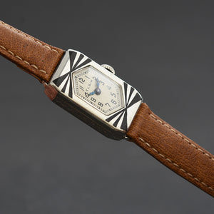 20s ELGIN USA Parisienne Ladies Art Deco Enamel Watch