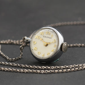 40s CROTON Swiss Ladies Pendant Ball Watch
