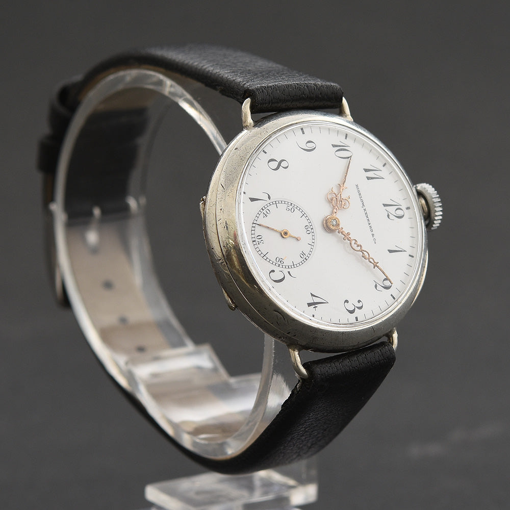 1913 LONGINES Ladies 0.935 Silver Trench Style Watch