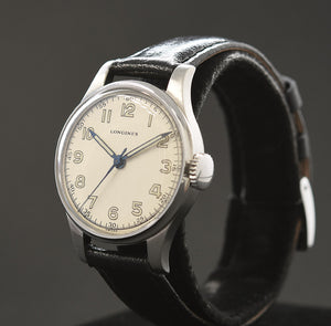 1944 LONGINES Gents Military WW2 Style Hack Watch