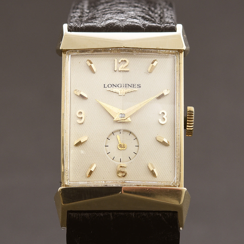 1957 LONGINES 'Pres. Fillmore' Gents 14K Solid Yellow Gold Vintage Watch