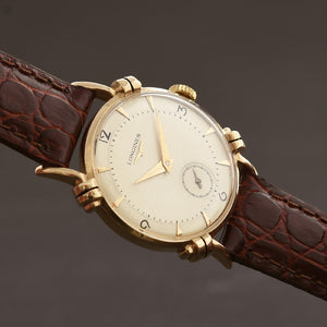 1950 LONGINES Gents 14K Solid Gold Vintage Watch