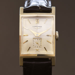 1950 LONGINES 'Pres. Roosevelt' Gents 14K Solid Yellow Gold Vintage Watch