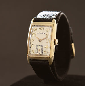 1936 HAMILTON USA 'Custer' Gents 14K Solid Gold Dress Watch