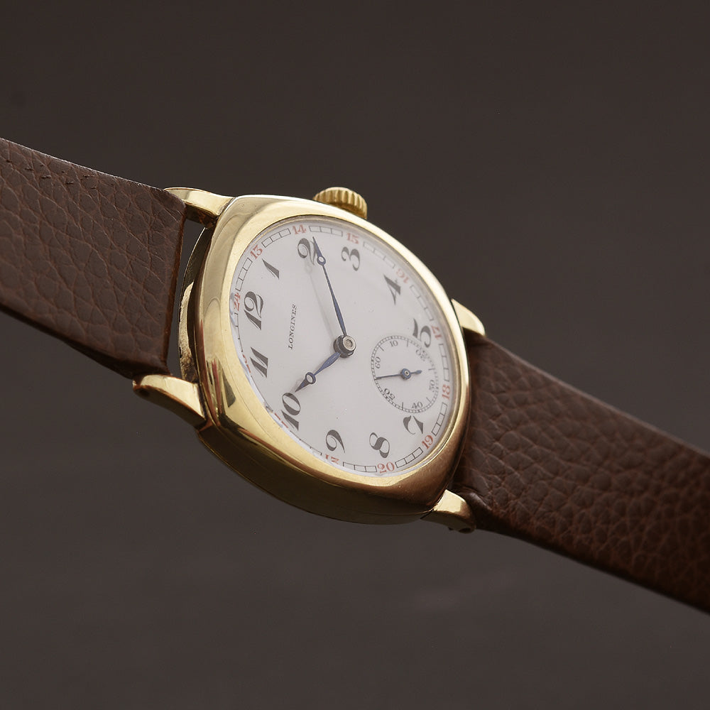 1926 LONGINES Gents Classic Art Deco Cushion Watch