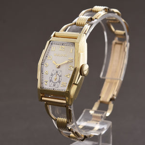 1937 BULOVA USA 'Goldcraft' Gents Art Deco Hexagon Watch