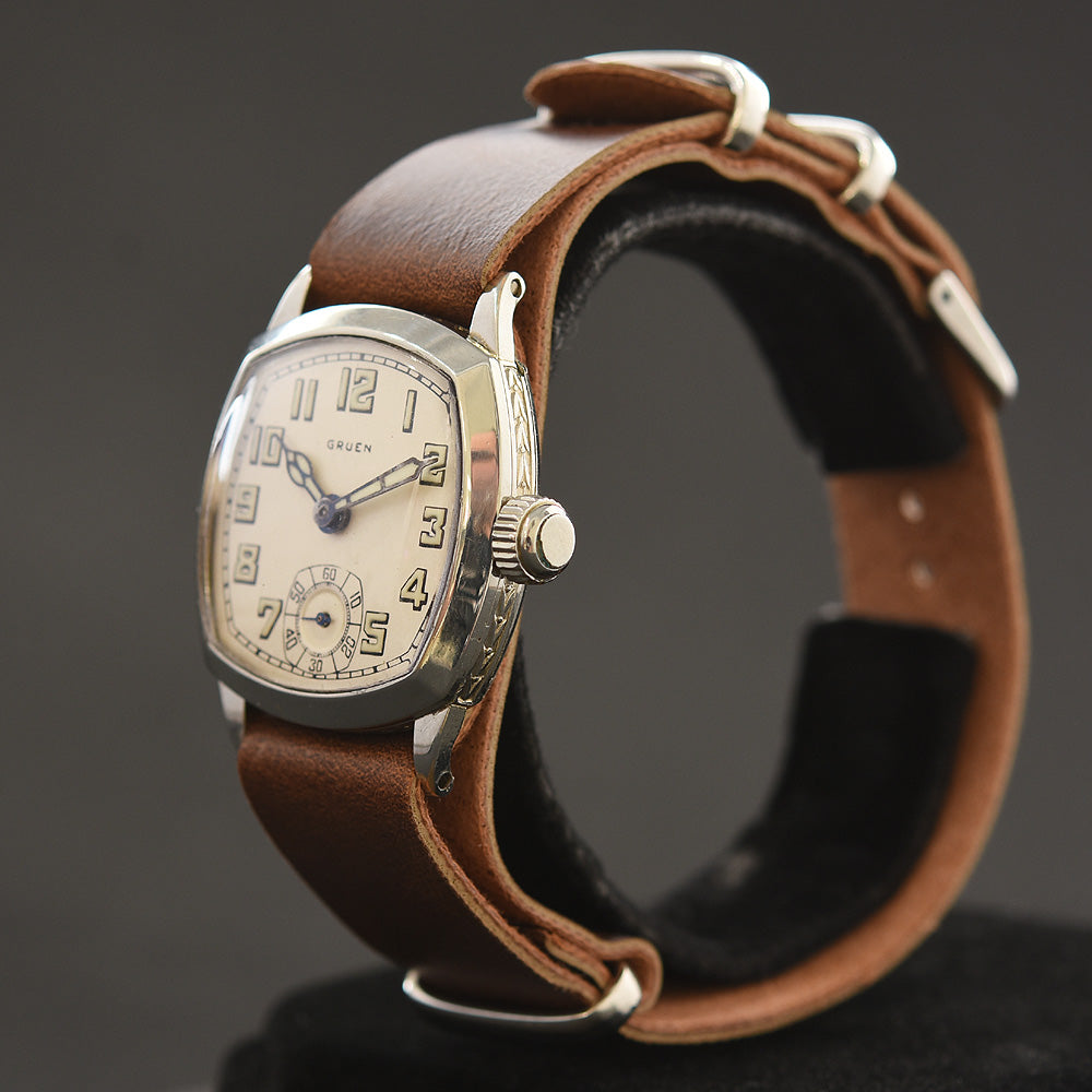 1928 GRUEN Guild Gents Cushion Art Deco 707-1 Watch
