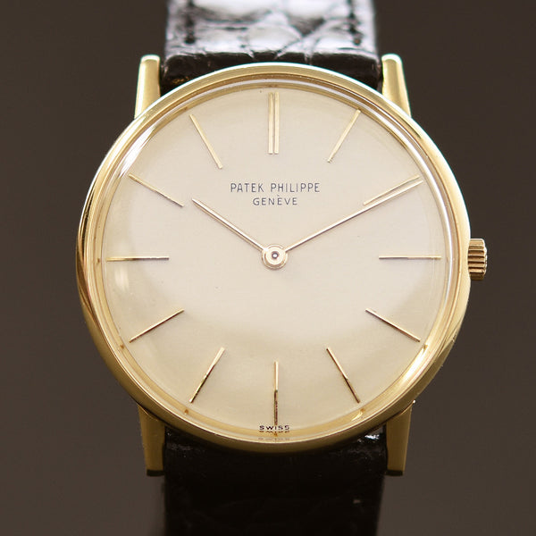 1968 PATEK PHILIPPE Ref. 3536 Vintage Gents 18K Gold Evening Watch