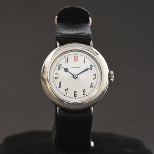 1918 LONGINES Gents WW1 Military Style Silver 925 Watch