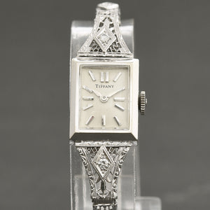 60s UNIVERSAL GENEVE Ladies 14K Gold/Diamonds Custom Art Deco Watch