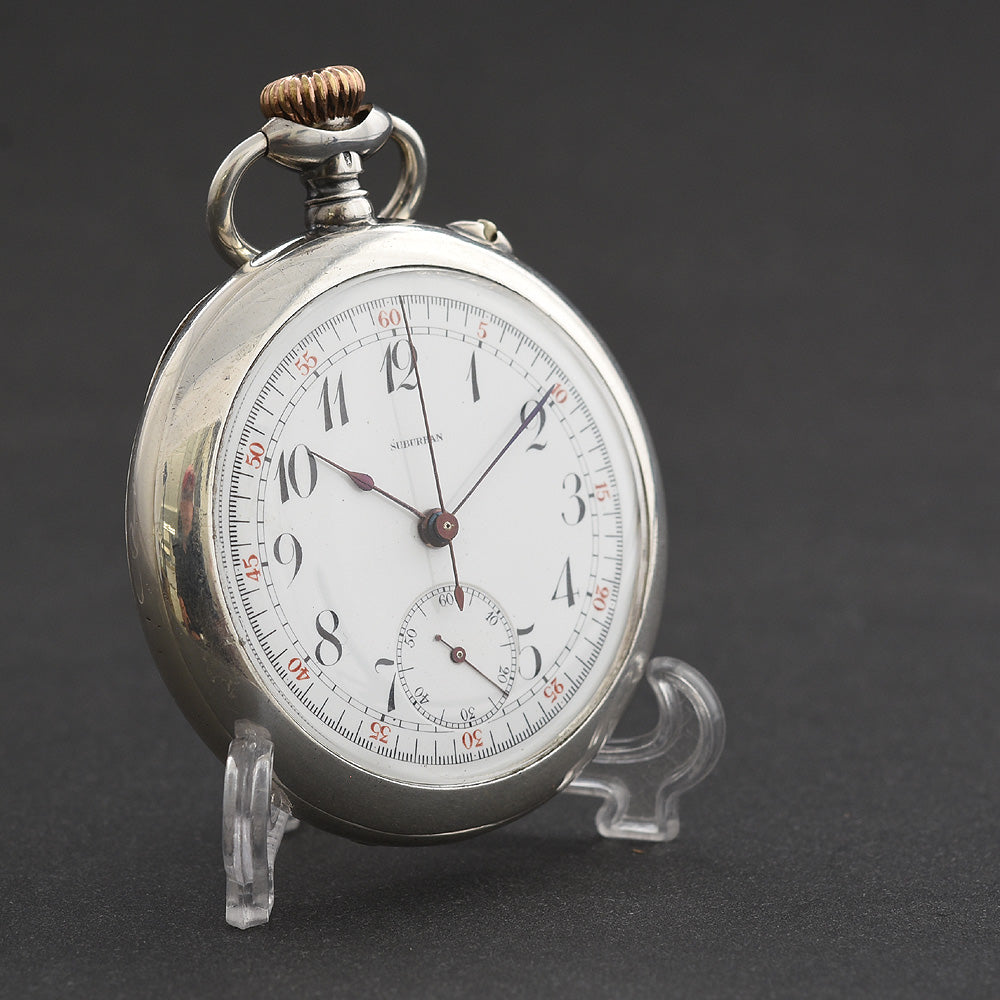 1900's SUBURBAN Hi-Grade Chronograph Pocket Watch