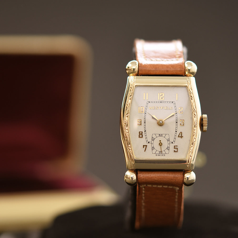 1947 BULOVA WESTFIELD 'Air King' Gents Art Deco Dress Watch