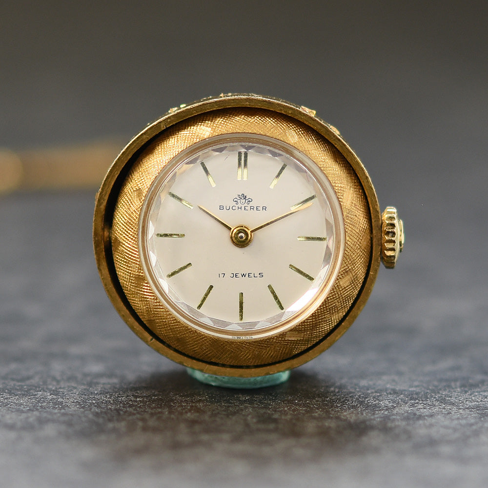 60s BUCHERER Swiss Ladies Vintage Swivel Pendant Watch