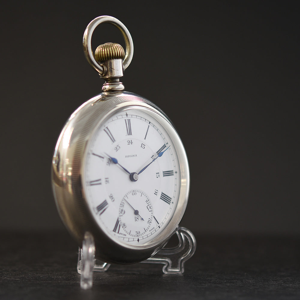 1918 OMEGA 'Regina' Swiss Enamel Dial Pocket Watch