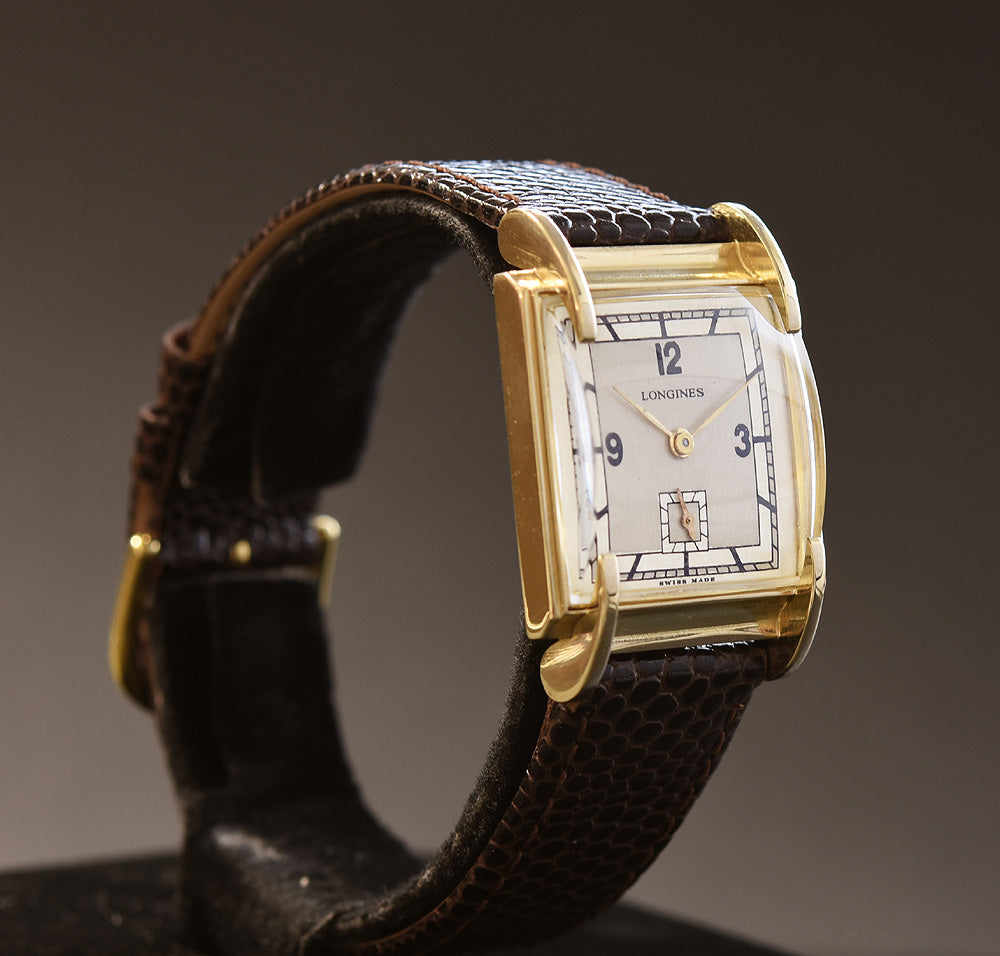1947 LONGINES Gents 14K Solid Gold Claw Lugs Vintage Watch