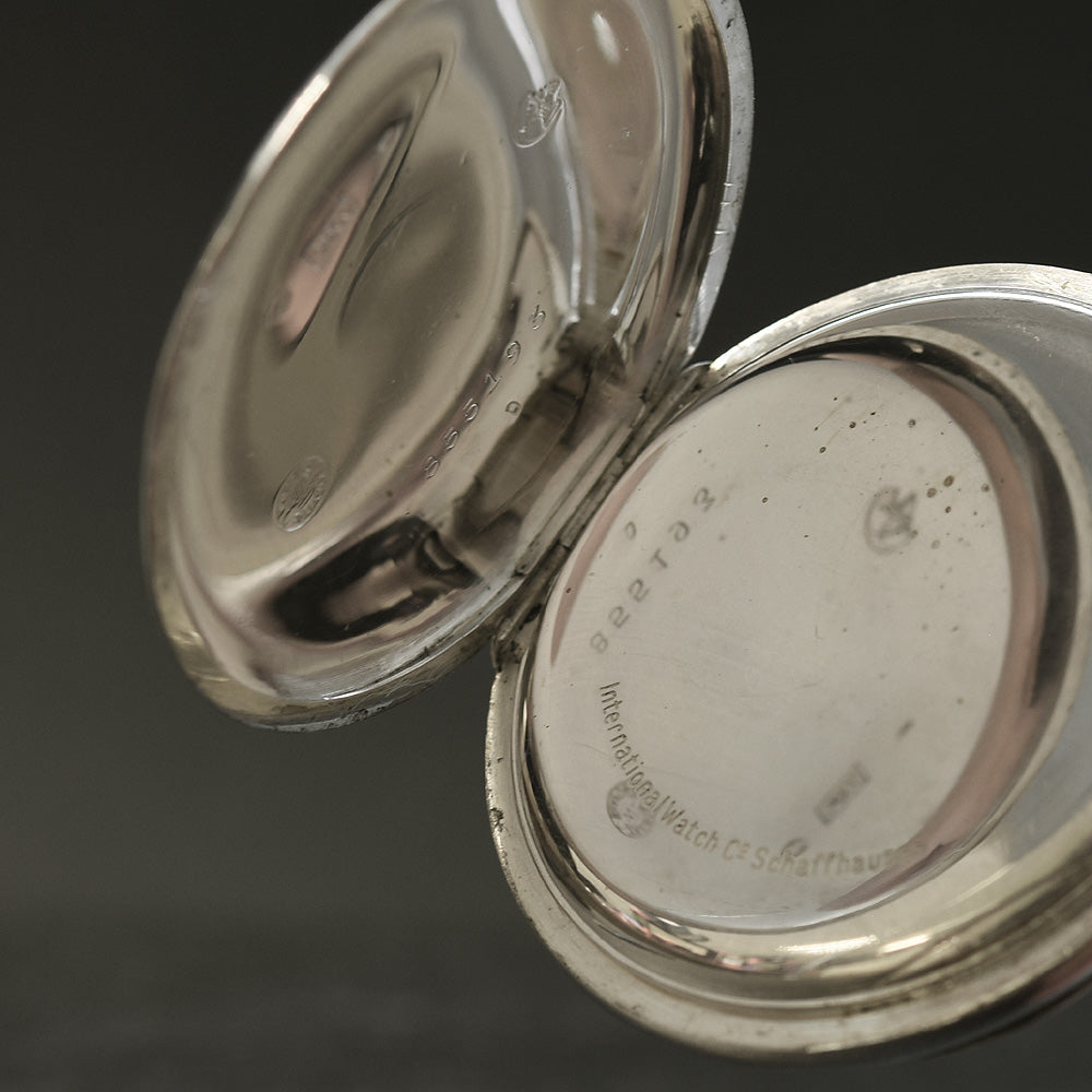 1926 IWC Schaffhausen Swiss Silver Pocket Watch