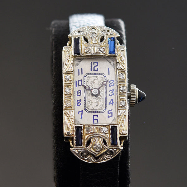 20s IOCO Ladies Platinum/18K Gold & Diamonds Art Deco Watch