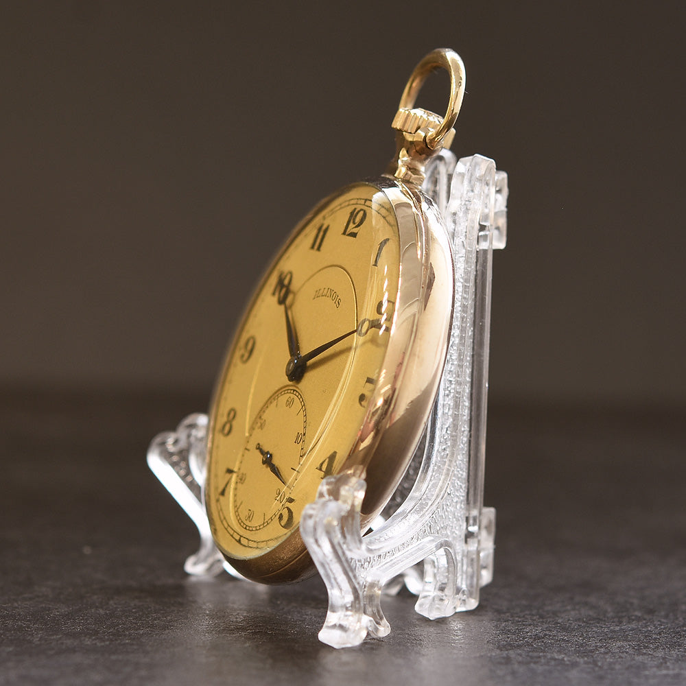 1920 ILLINOIS USA 'The Autocrat' Art Deco Pocket Watch