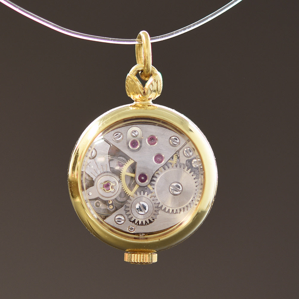 butterfly pendant style necklace watch product vintage pocket bronze