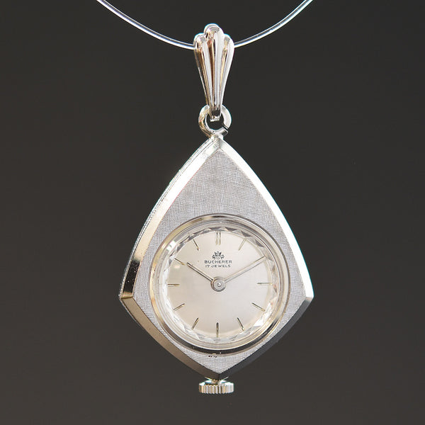 60s BUCHERER Swiss Ladies Shield/Pendant Watch