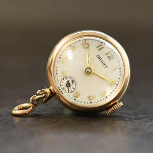 40s GRANT Swiss Ladies Pendant Ball Watch