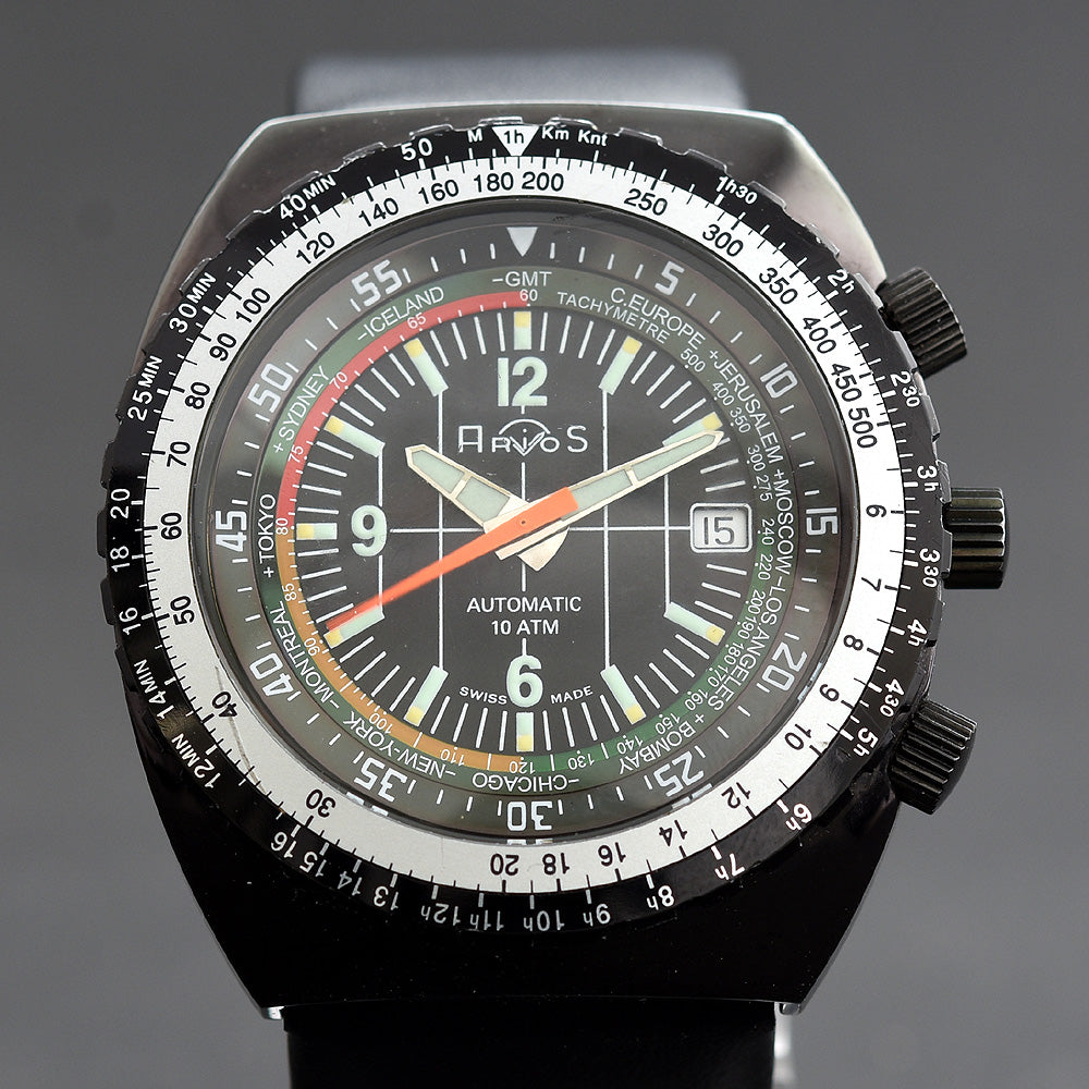 1977 ARIOS 'Tauchkalkulator' World Time Automatic Watch