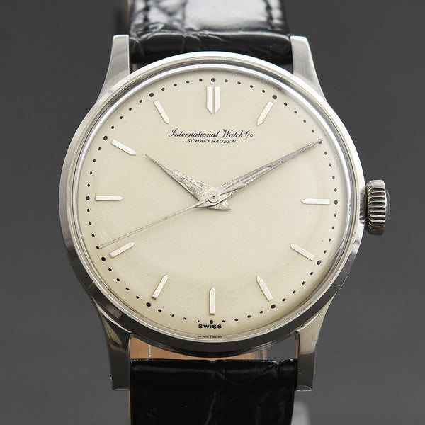 1957 IWC Schaffhausen Vintage Gents Stainless Steel Watch