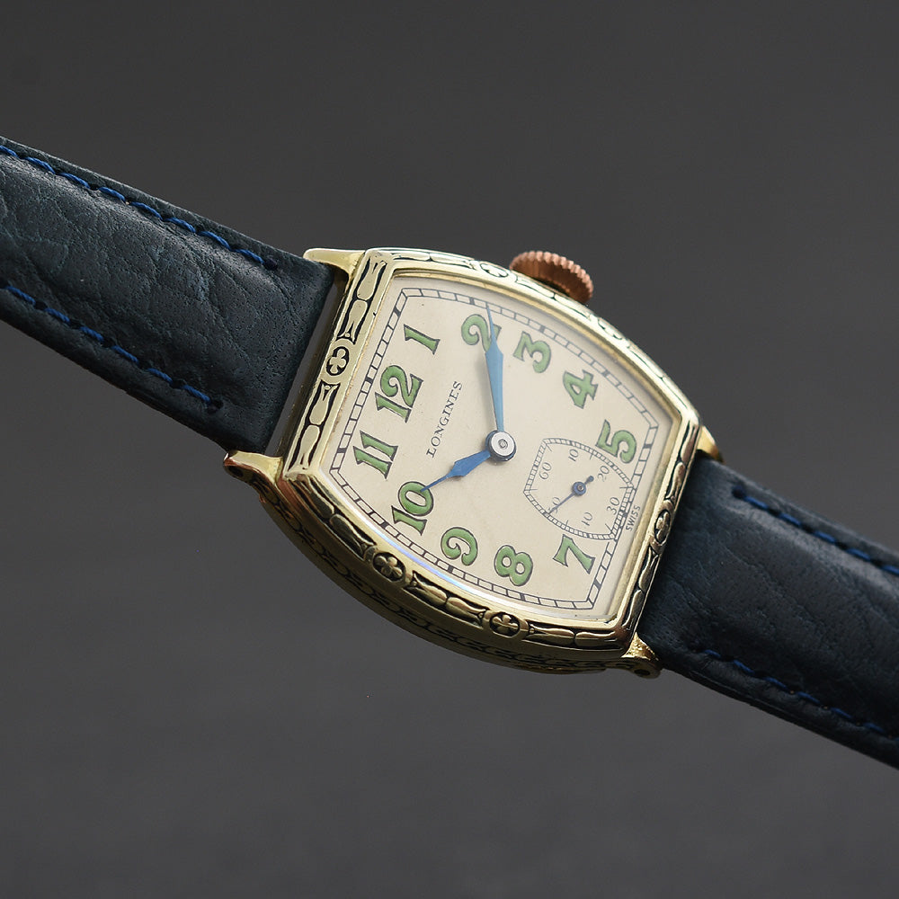 1928 LONGINES Gents Art Deco Enamel Watch