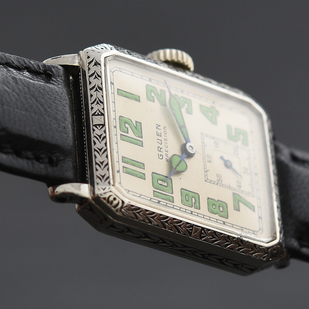 1928 GRUEN Guild Gents Octagon Art Deco Watch 115-27