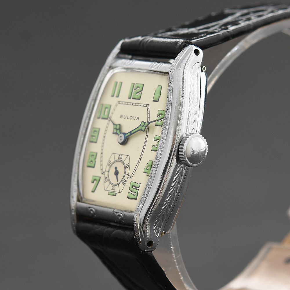 1929 BULOVA 'Lone Eagle' Gents Art Deco Watch