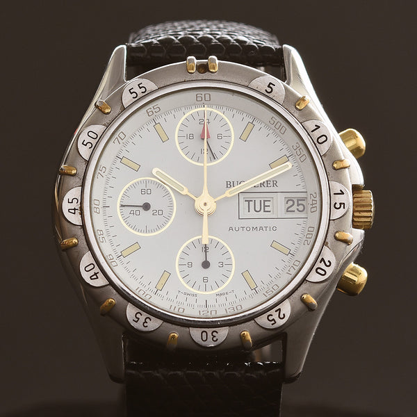 90s BUCHERER Automatic Chronograph Watch 4.029.0.0.80