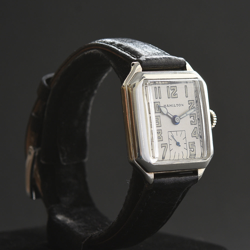 1932 HAMILTON USA 'Square B' Gents Art Deco Dress Watch