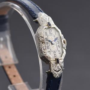 20s ABRA Ladies Platinum/18K Gold & Diamonds Art Deco Watch