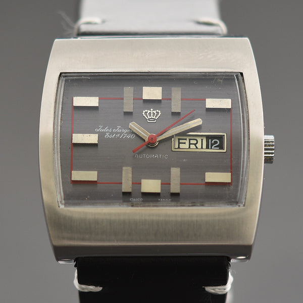 70s JULES JURGENSEN Automatic Day/Date Gents Vintage Watch