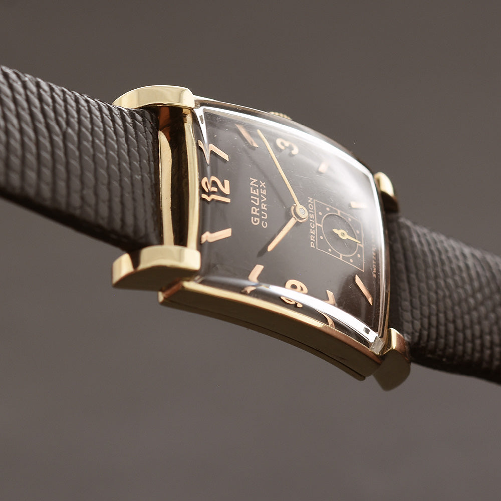 1946 GRUEN Curvex 14K Gold Gents Dress Watch 440-544