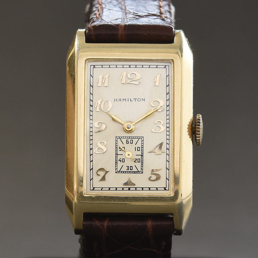 1933 Rare HAMILTON USA 'Stanley' c. 401 Gents Dress Watch