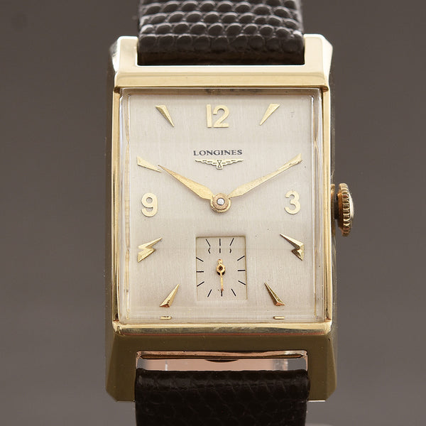 1950 LONGINES Gents 14K Gold Vintage Dress Watch