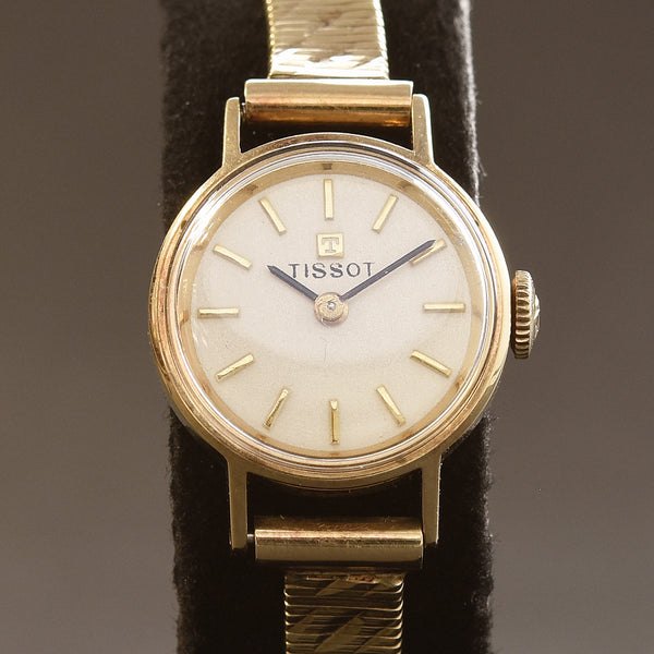60s TISSOT Ladies 14K Solid Gold Vintage Cocktail Watch