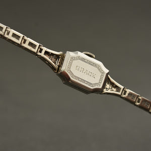 20s GRUEN 18K Gold, Diamonds&Sapphires Art Deco Ladies Watch