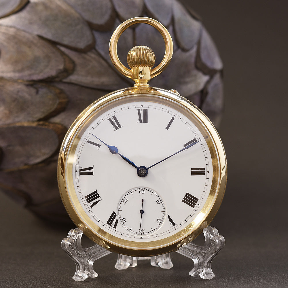 1902 J. ROTHERHAM & Sons 18K Large English Pocket Watch
