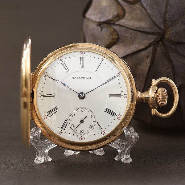 1905 American WALTHAM P.S. Bartlett 14K Gold Hunter Pocket Watch