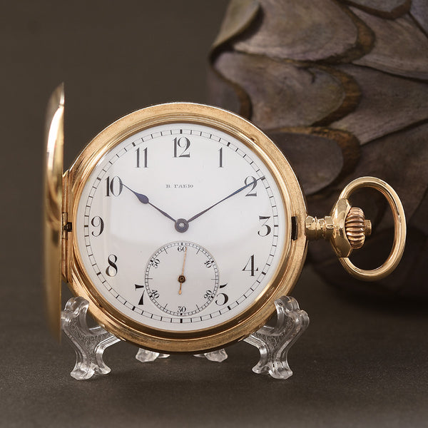 1910s ULYSSE NARDIN W. Gabius 14K Gold Hunter/Savonette Pocket Watch